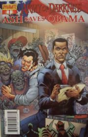 Army Of Darkness Ash Saves Obama #1 DE Foil Variant COA Ltd 57 Dynamite Entertainment comic book